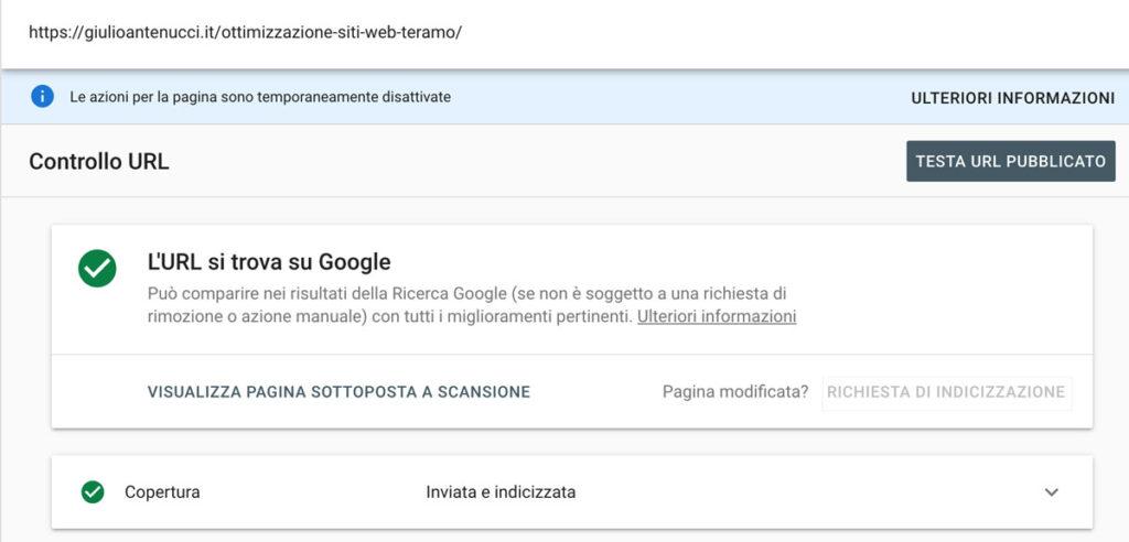Google Serach Console Indicizzazione